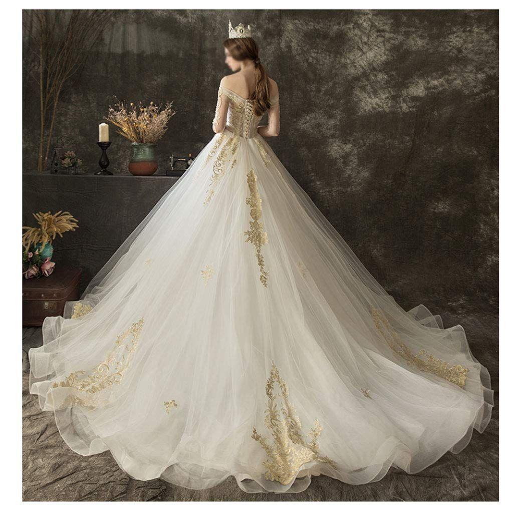 Ein Brautkleid für eine Prinzessin. Dieses Hochzeitskleid ist