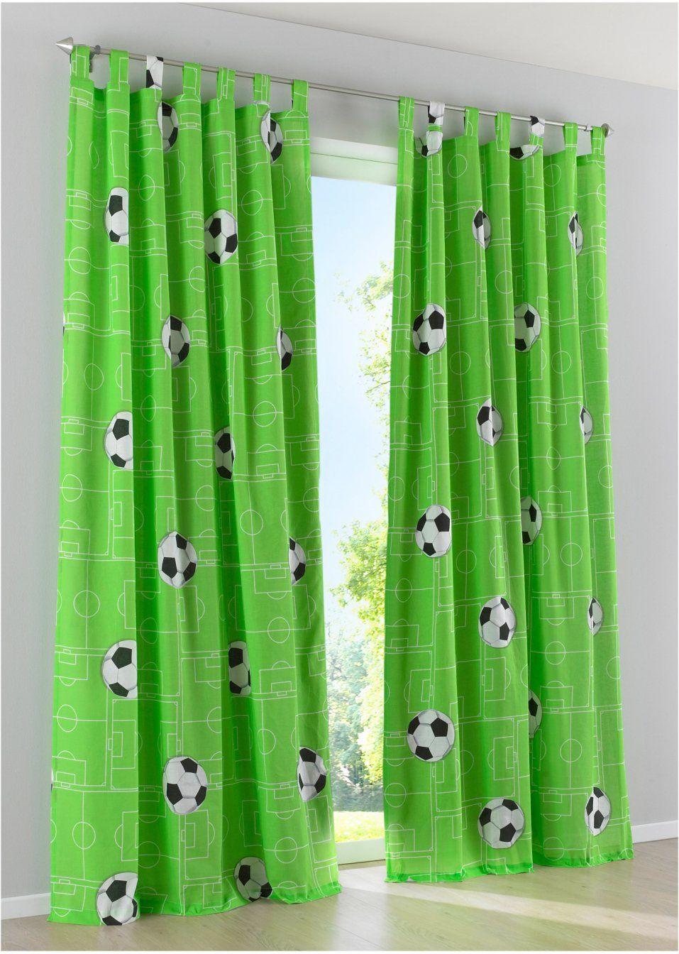 Vorhang Mit Fußball Druck 1er Pack Haus Deko Zuhause