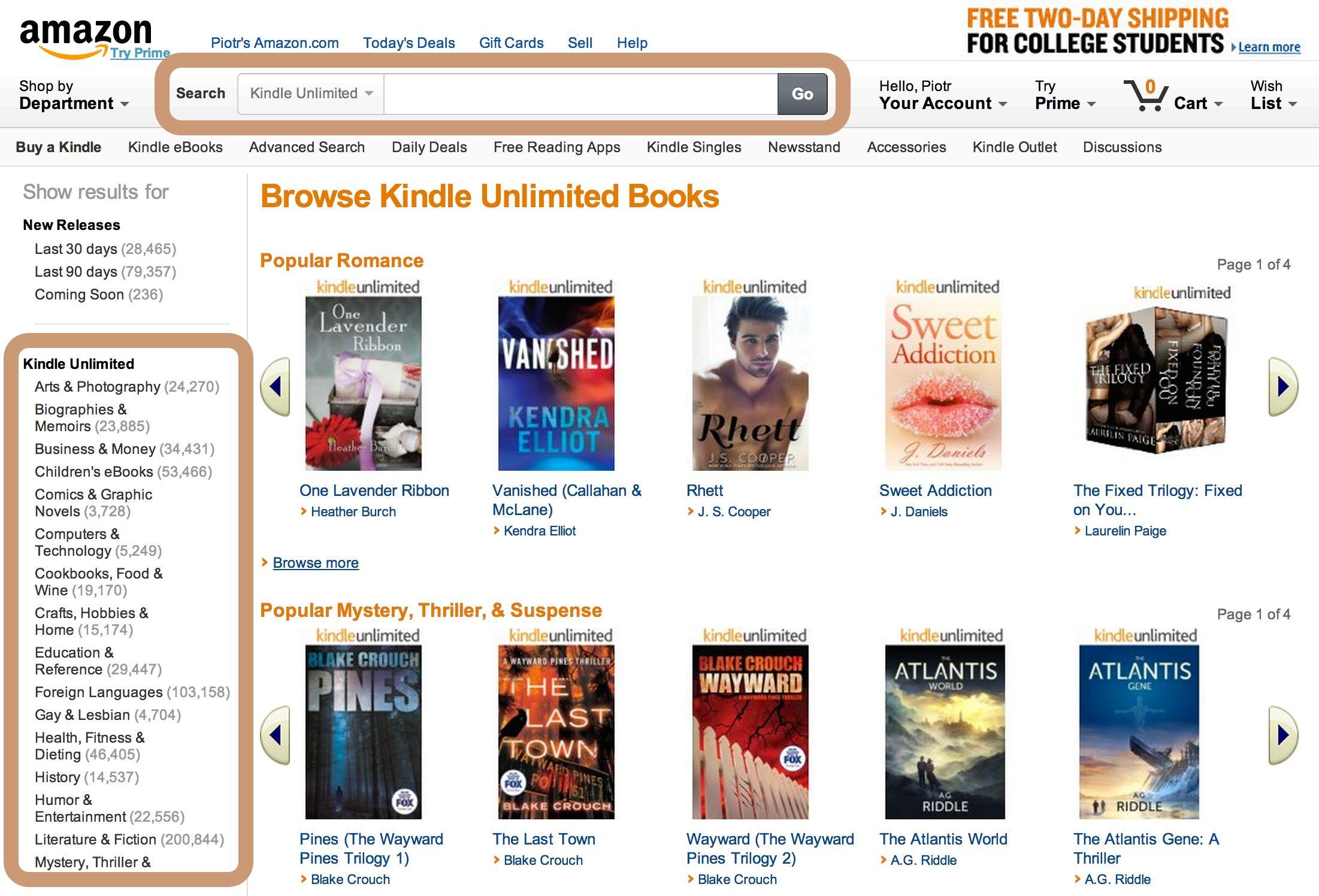 4 ways to find Kindle Unlimited ebooks on Amazon Kindle