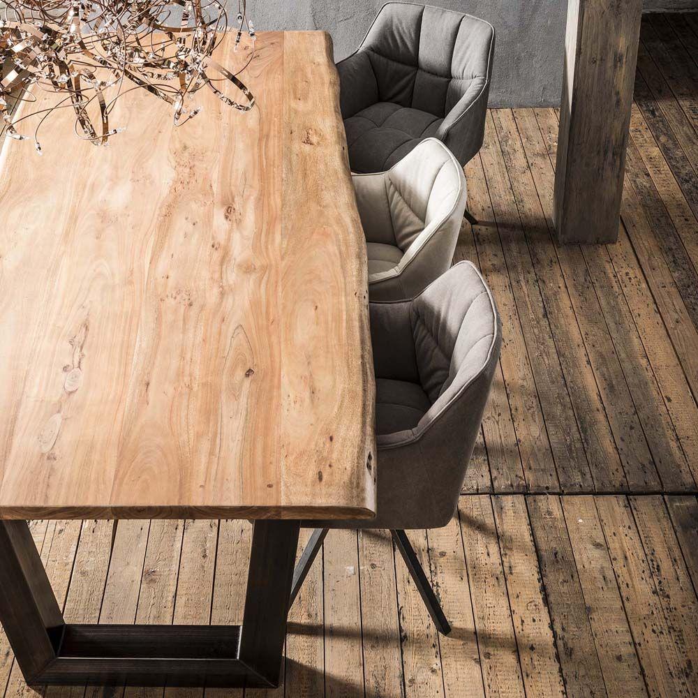 Esstisch Baumstamm 240 Cm Massiv Akazie Holztisch Baumkante Holztisch Baumkante Esstisch Baumstamm Esstisch
