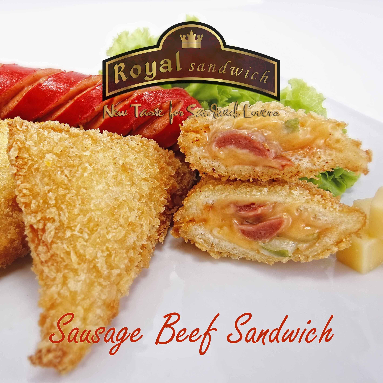 Sausage Beef Sandwich  Sausage Beef Sandwich Sandwich, Sandwich Goreng Berisi Potongan Sosis Sapi dan Kejupilihan dan Keju yang di balut Mayonaise dan Saus  Sausage Beef Burger direkomendasikan untuk kamu para pecinta Sosis  1 Bungkus terdiri dari 10 Pcs Sandwich Goreng.