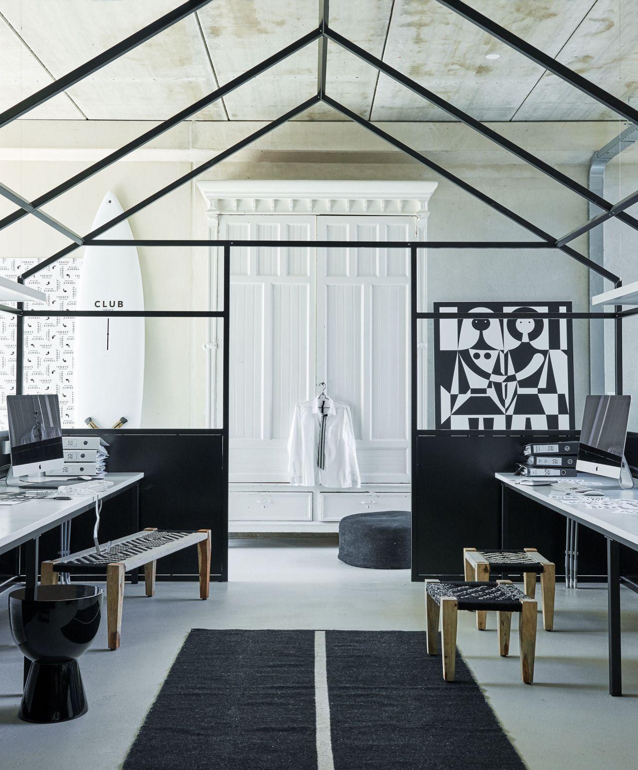 Black and white workspace industrial home design house interiors style also interiordesign pinterest interior rh