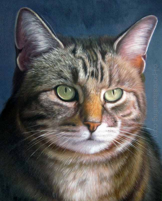 Pet Oil Painting Portrait. Reminds Me Of My Old Kitty, Tessie