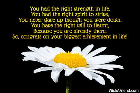 You had the right strength