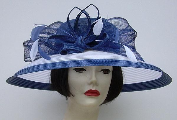 8a5abb05478ef Love Hat · Navy And White · Royal Navy White Sheer Brim Lamp...Fabulous  look for church