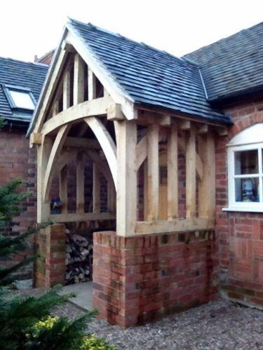 Oak Porch Doorway Wooden porch CANOPY Entrance Self build kit & Oak Porch Doorway Wooden porch CANOPY Entrance Self build kit ...