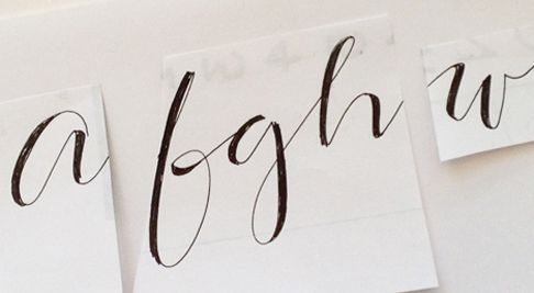 modern calligraphy font by outside the line