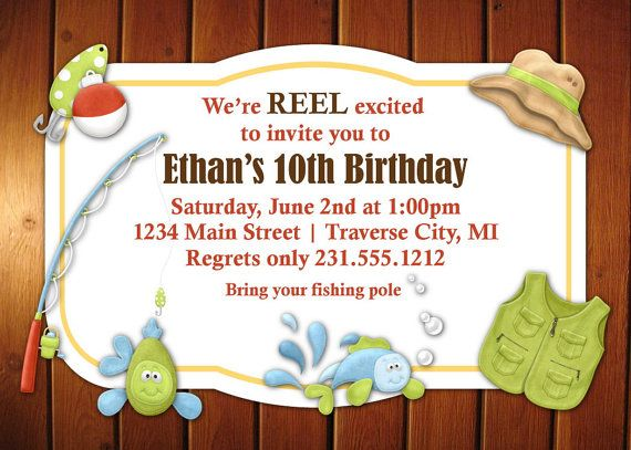 Fishing Invitation Kids Birthday By Announceitfavors
