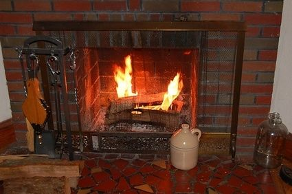 How To Clean Ceramic Gas Logs Red Brick Fireplaces Fireplace