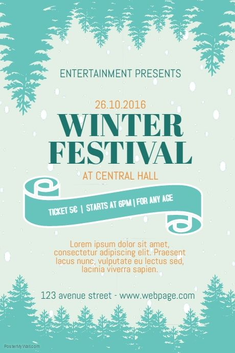 winter fair festival flyer template postermywall free winter
