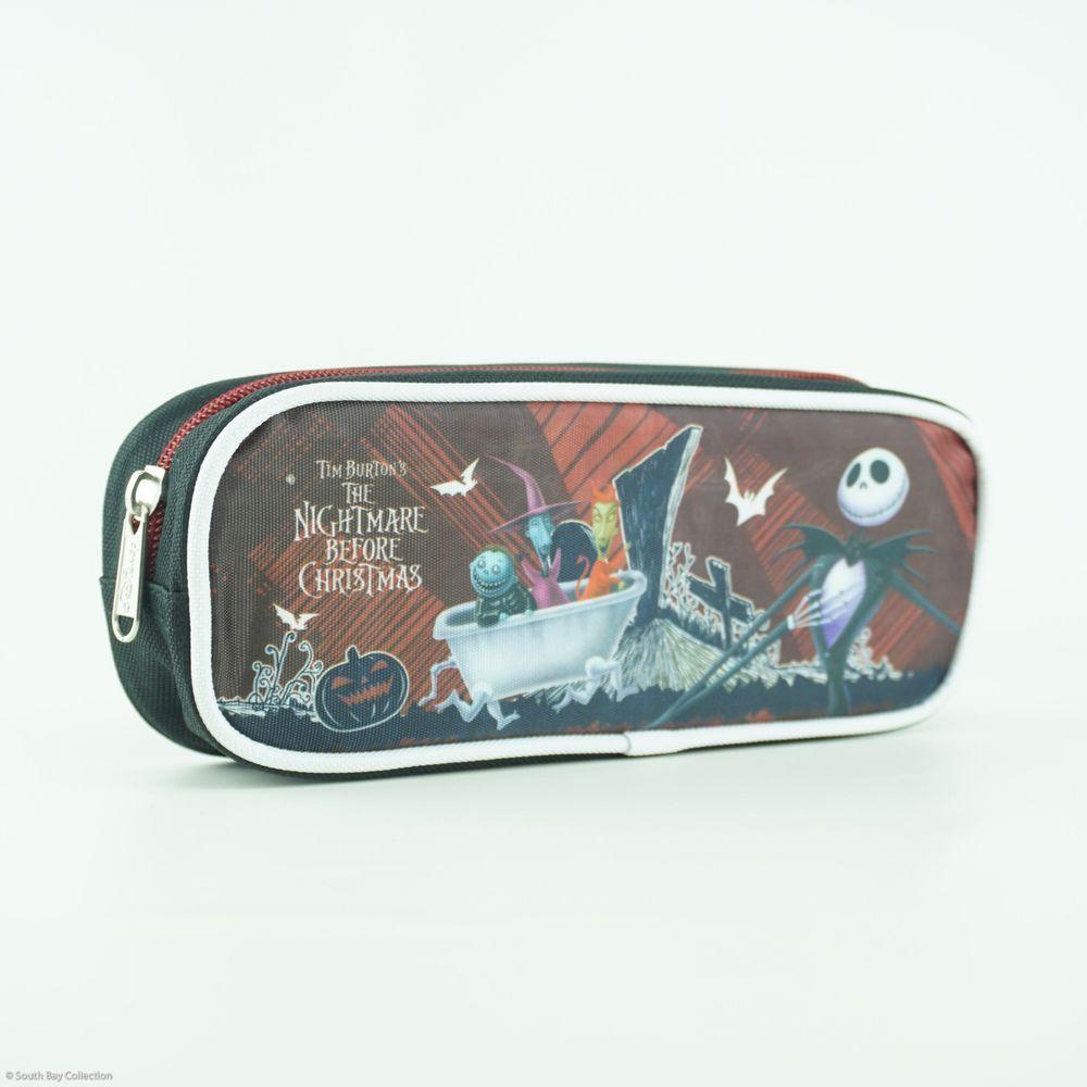 Disney Nightmare Before Christmas Pouch Pencil Case Zip Top Jack ...