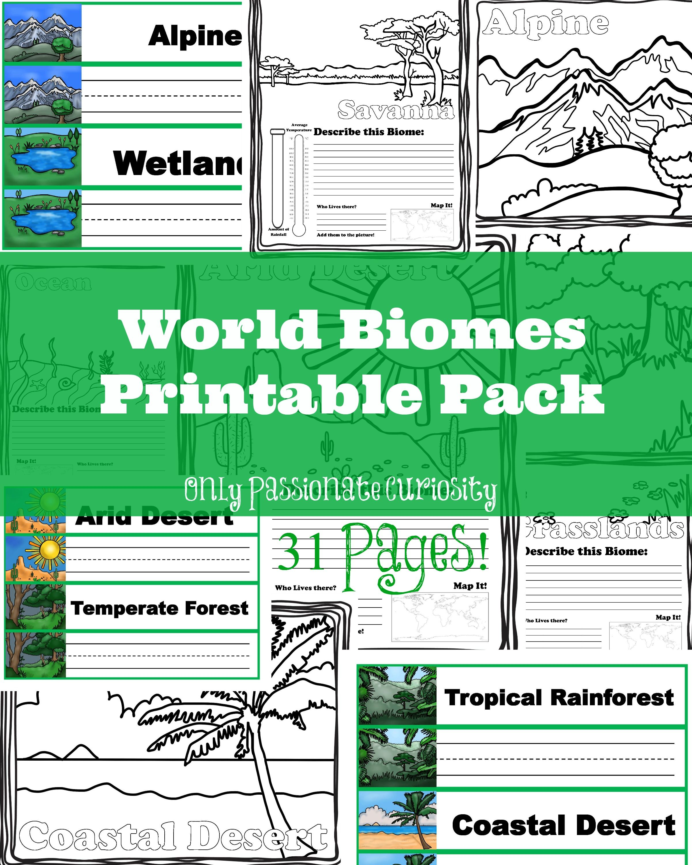 Learning About World Biomes Biomes Homeschool Science Science Curriculum [ 3000 x 2400 Pixel ]