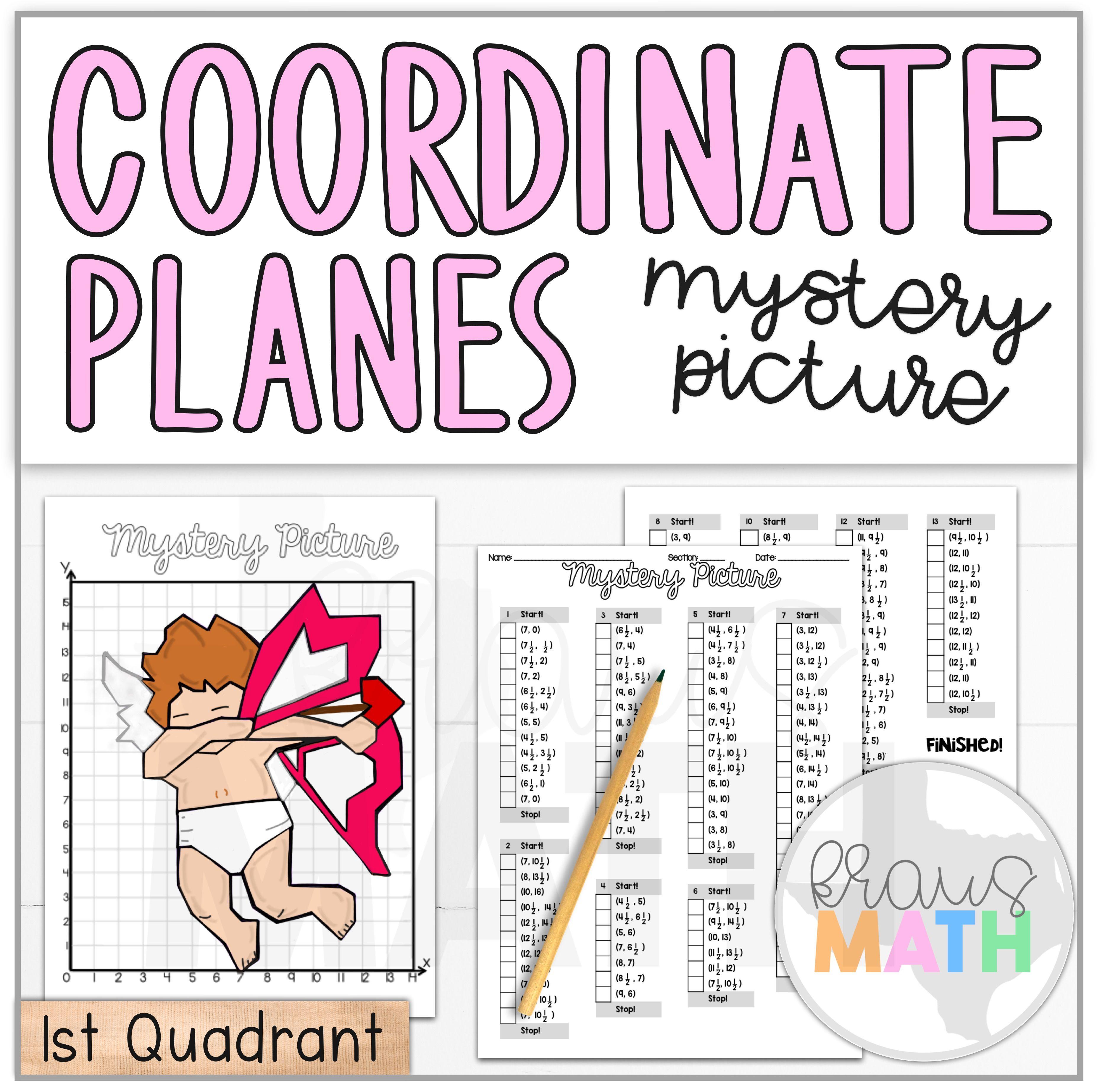Valentine S Day Cupid Dab Coordinate Plane Activity 1st