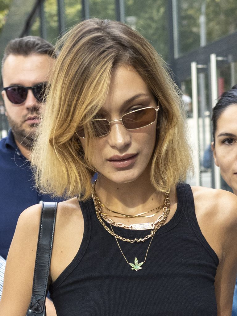 Bella Hadid Chopped Her Blonde Hair Into a Sleek Bob While You Weren't Looking