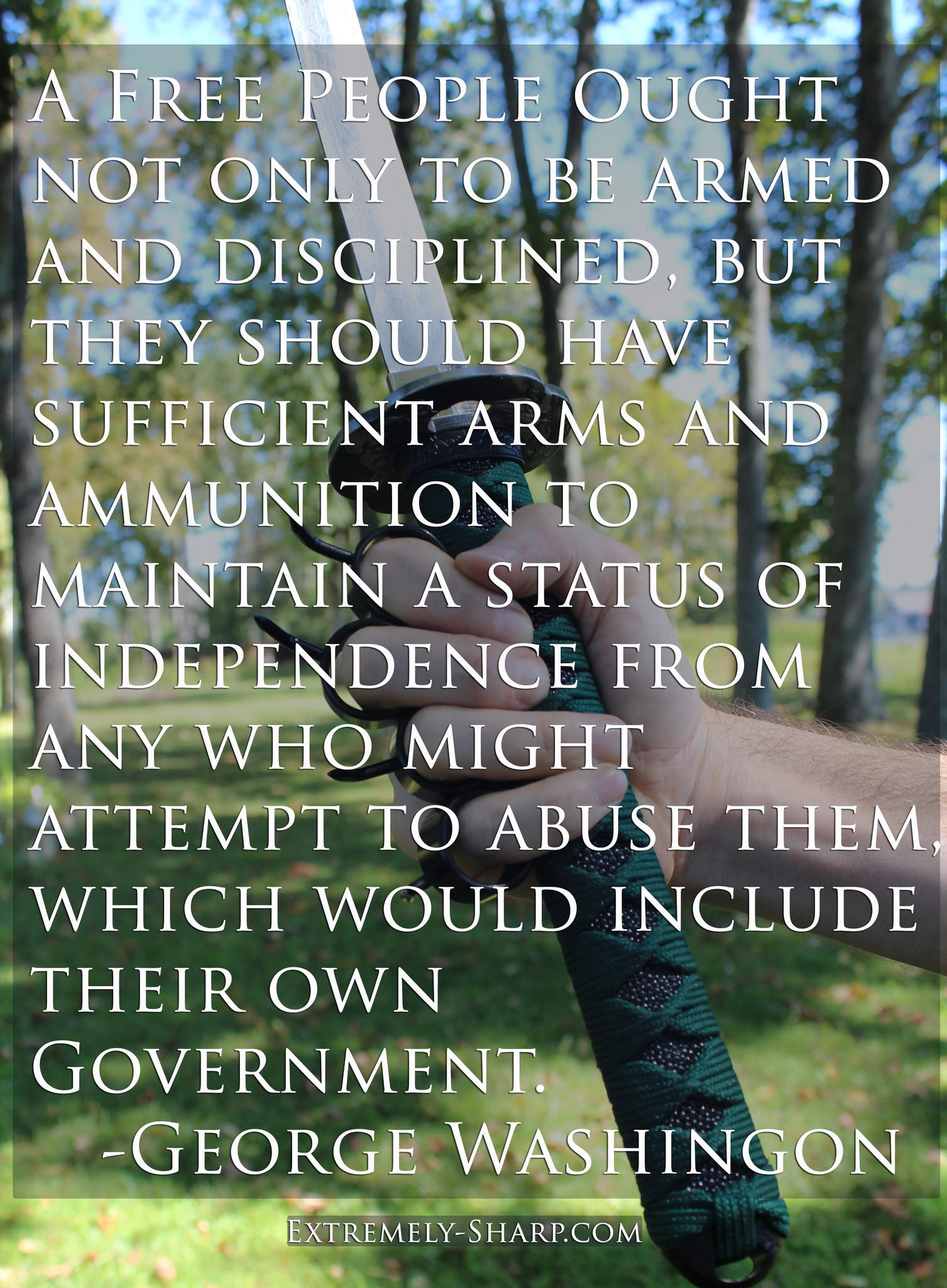 A Free People Ought Not Only Be Armed And Disciplined But They