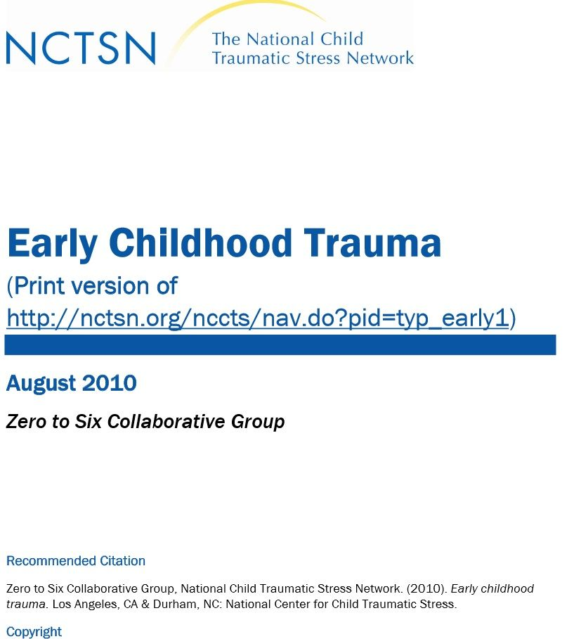Early Childhood Trauma Ptsd Pinterest Trauma Trauma Therapy