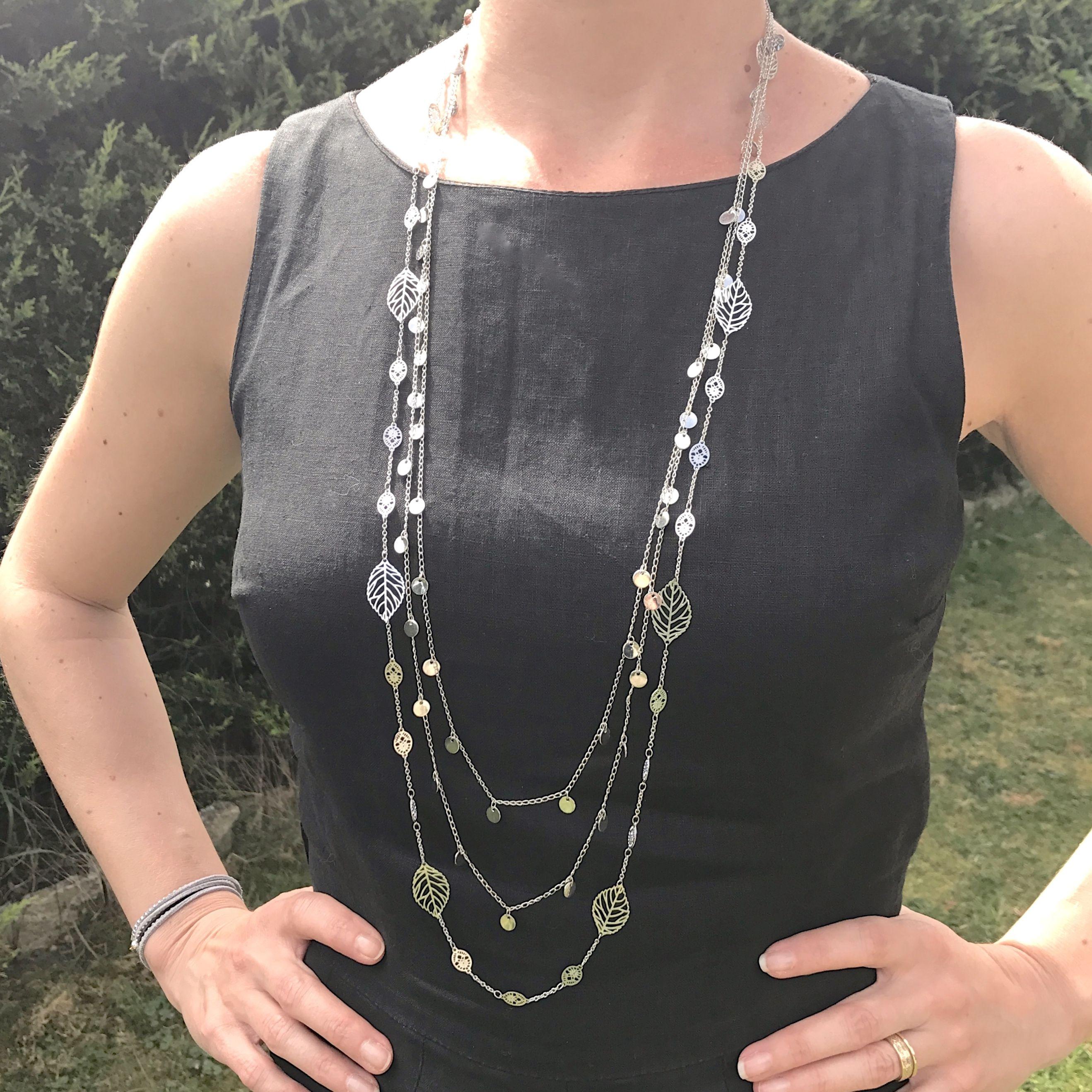 Crystal Chunky Statement Bib Pampilles Feuilles Pendentif Chaîne Fashion Collier Tour de cou