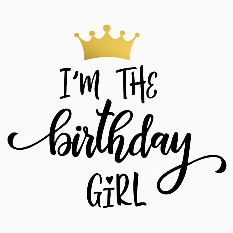 Free Birthday Girl SVG Cut File #birthdaymonth