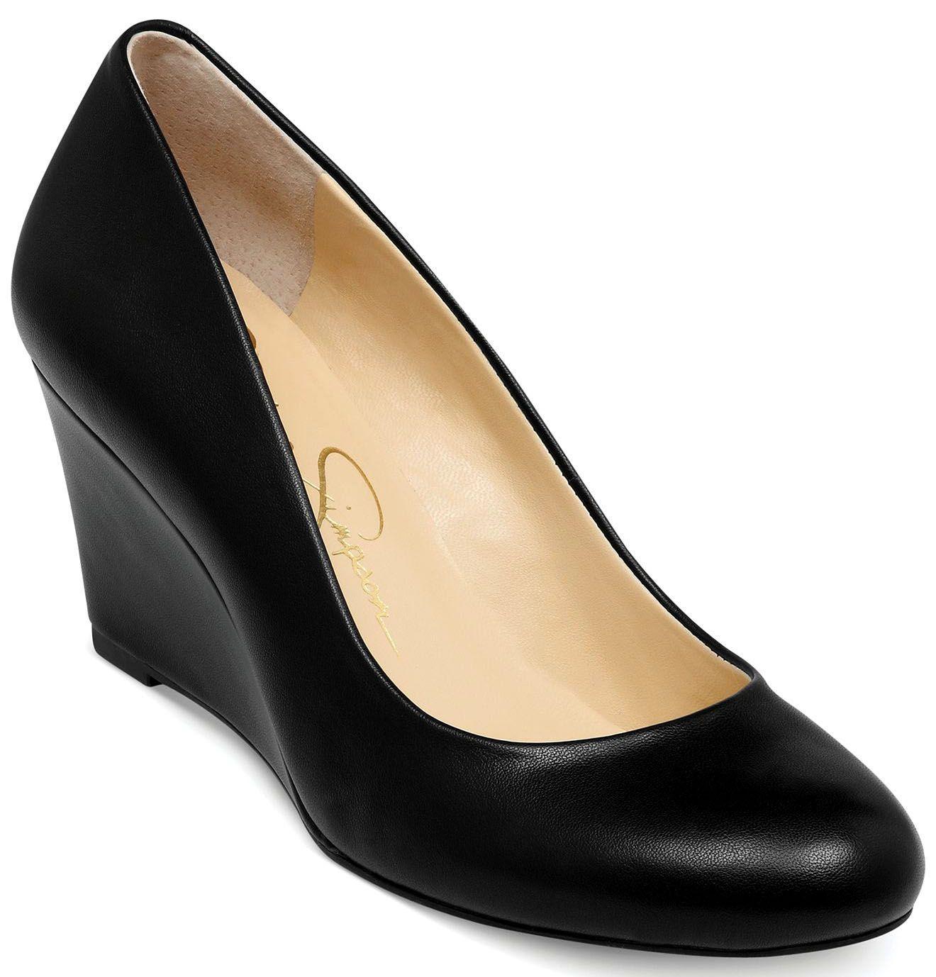 Black wedge shoes, Pump shoes, Wedge pumps