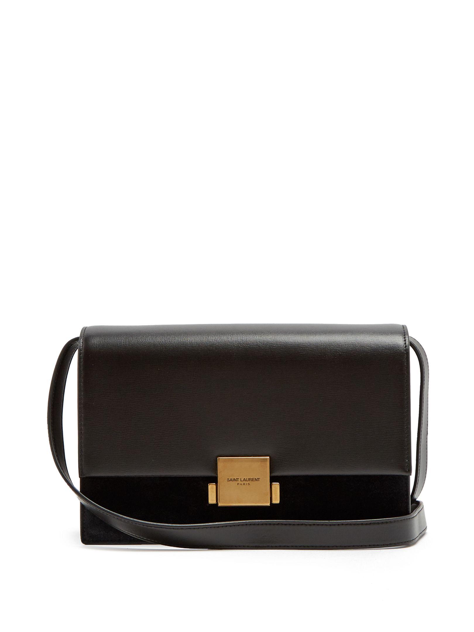 faf33f890426c Saint Laurent Bellechasse medium leather and suede bag