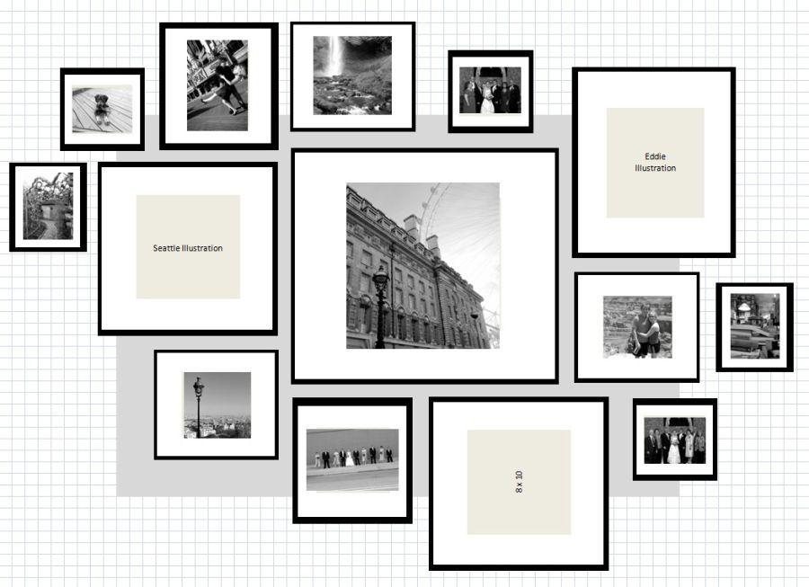 ikea ribba gallery wall layout # 7
