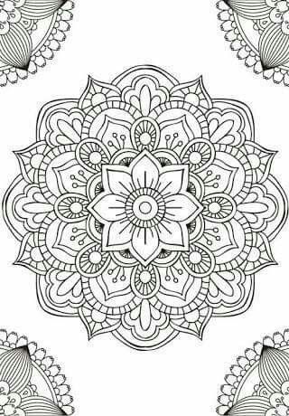 Coloring Page Mandala Doodle Easy Drawing Book Simple