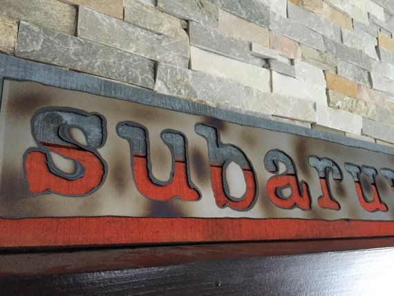 SUBARU WRX Rustic Sign...Wall Art...Reclaimed by DiverDownDesigns & SUBARU WRX Rustic Sign...Wall Art...Reclaimed Wood...Man Cave..Car ...