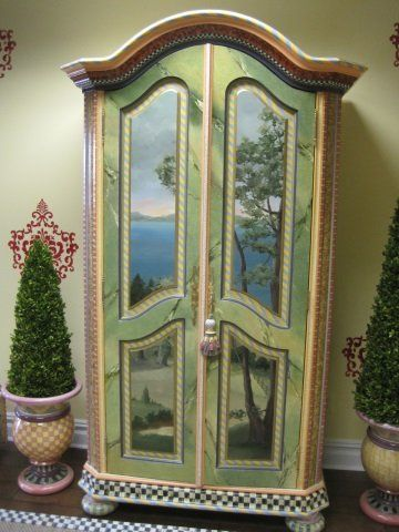 MacKenzie Childs Kitchen Armoire : Lot 243