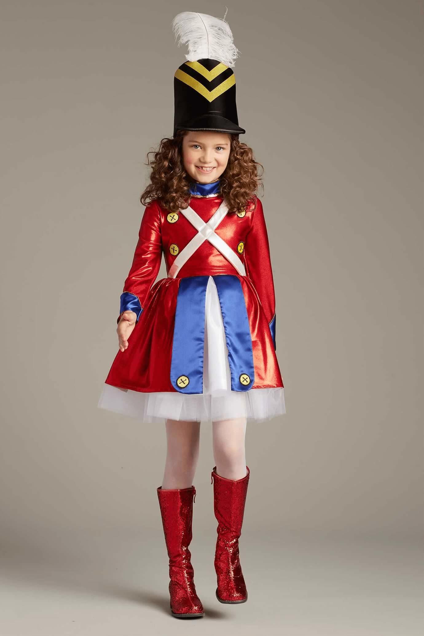 LADIES TOY SOLDIER COSTUME WOMEN/'S MAJORETTE NUTCRACKER FANCY DRESS CHRISTMAS