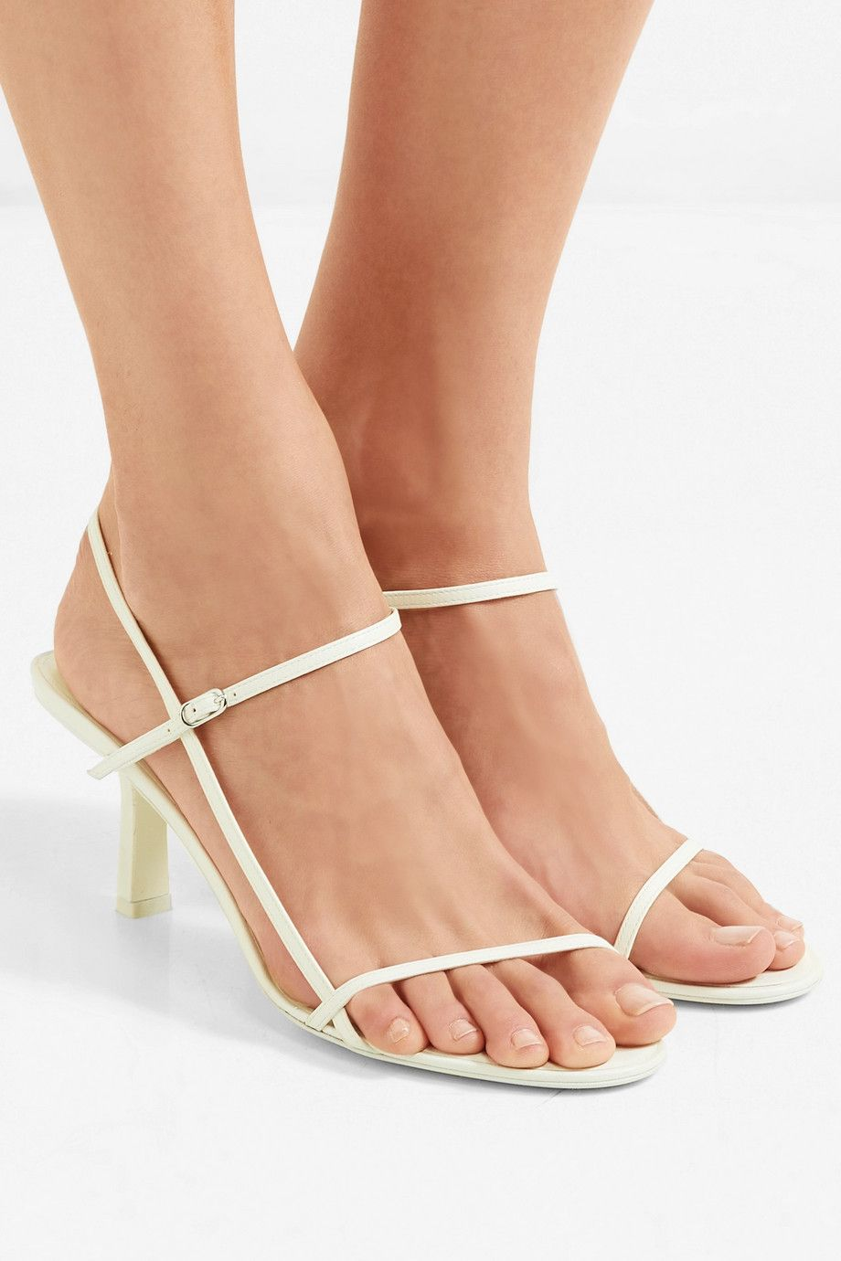 9ade22c6ba6 The Row | Nude leather sandals | NET-A-PORTER.COM | Sandals | Shoes ...