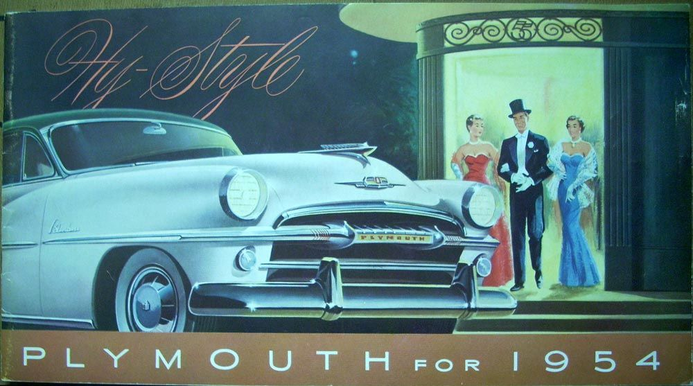 Hy Style 1954 Plymouth Belvedere Savoy Plaza Dealer Sale Brochure ...