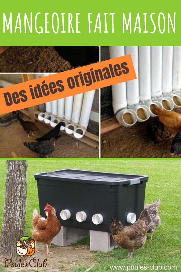 Mettre Des Poules Dans Son Jardin mangeoire fait maison pour poule : des idées originales