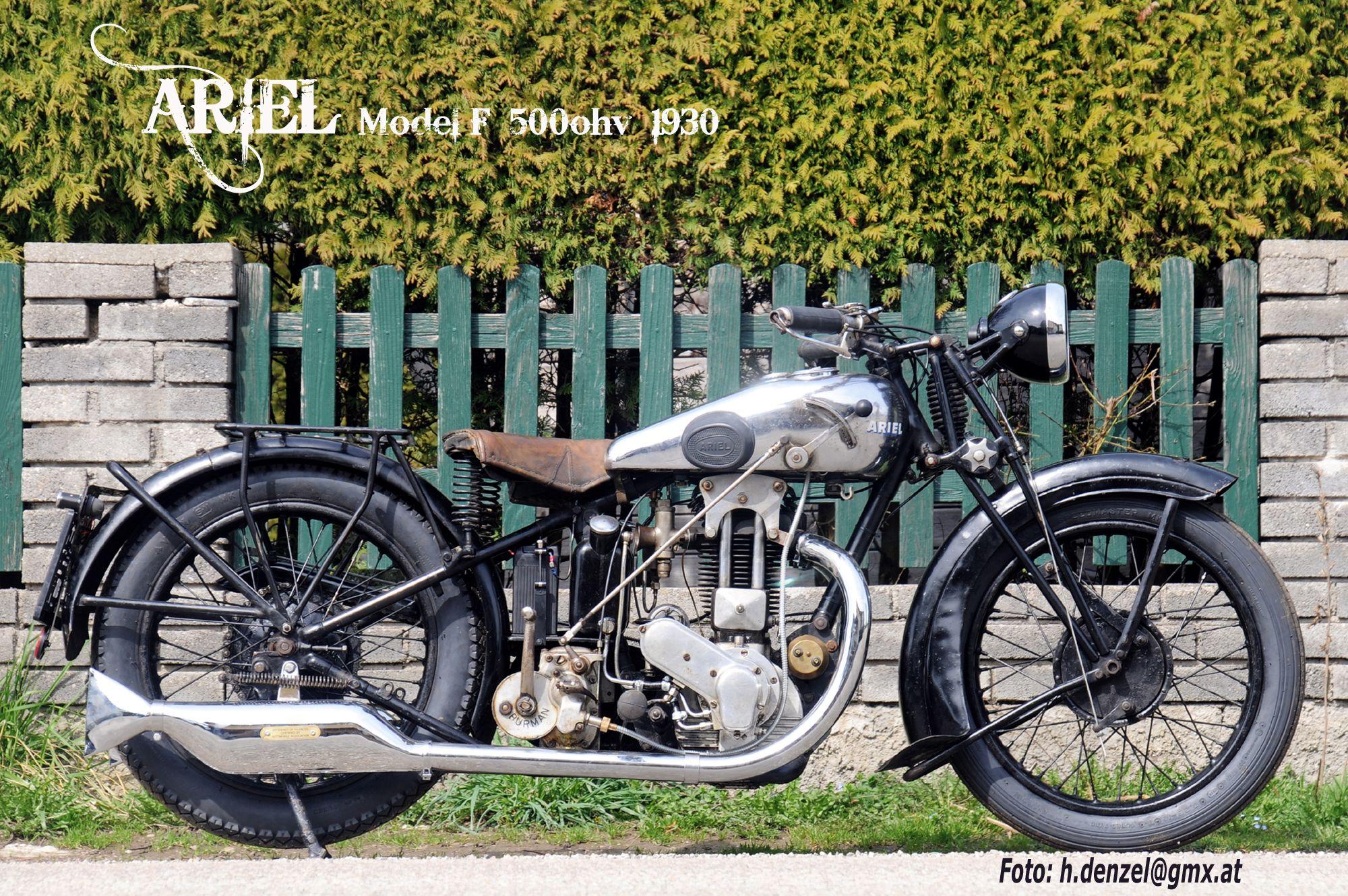 Ariel Model F 500ohv 1930 Motorbikes Motorcycle Moped