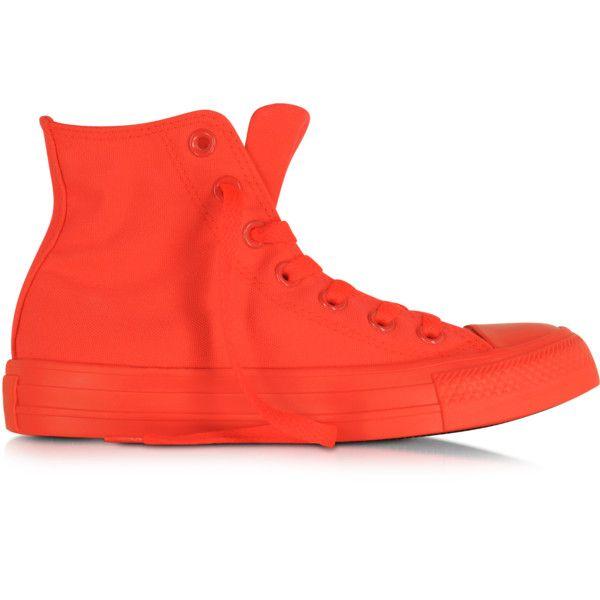 Star Hi Neon Crimson Canvas Sneaker
