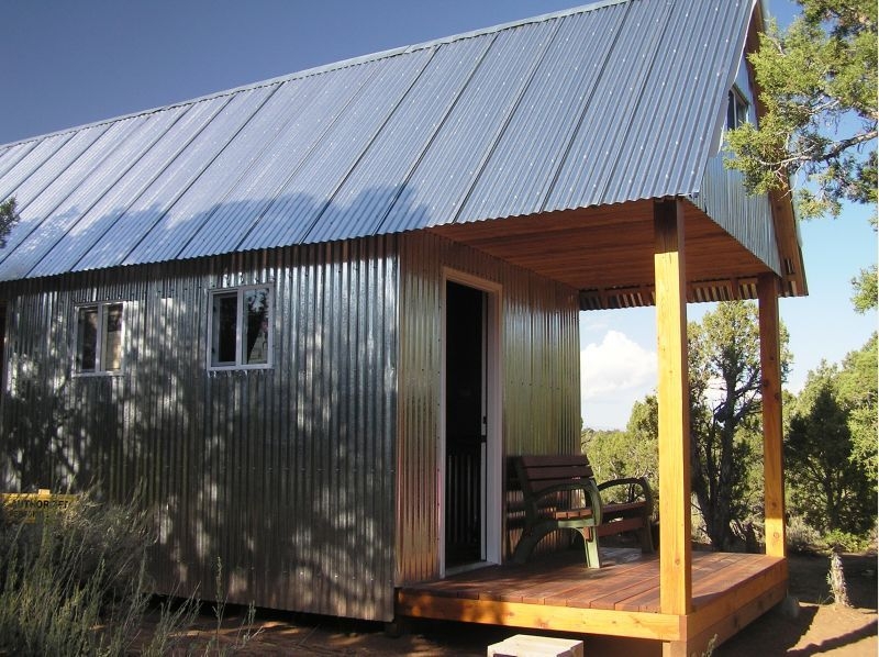 small metal cabins