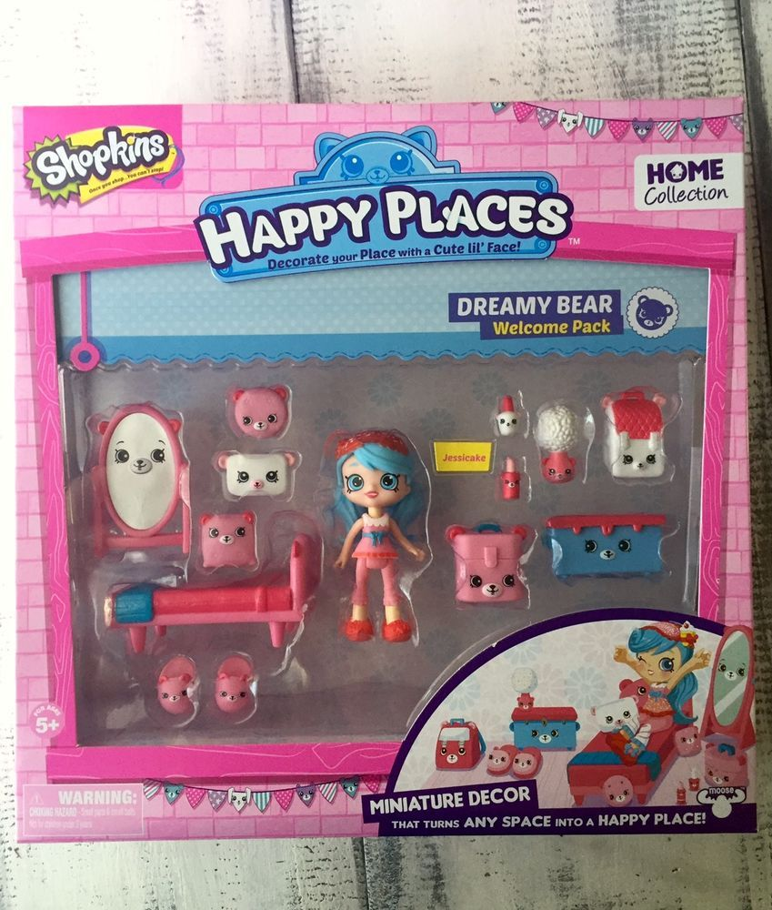 Shopkins Happy Places Jessicake Dreamy Bear Welcome Home