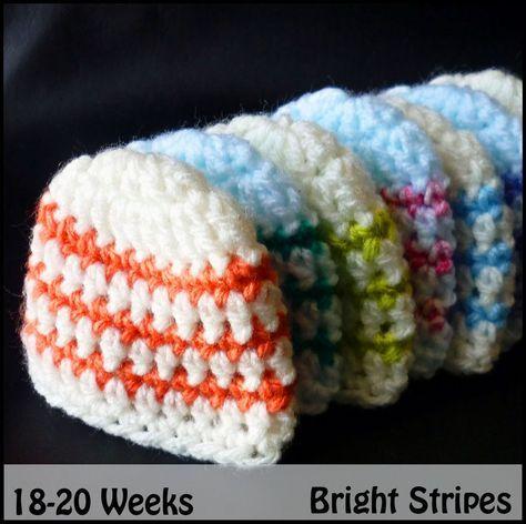 Bright Stripes Beanie Sun Bonnet Sue Pinterest 20 Weeks