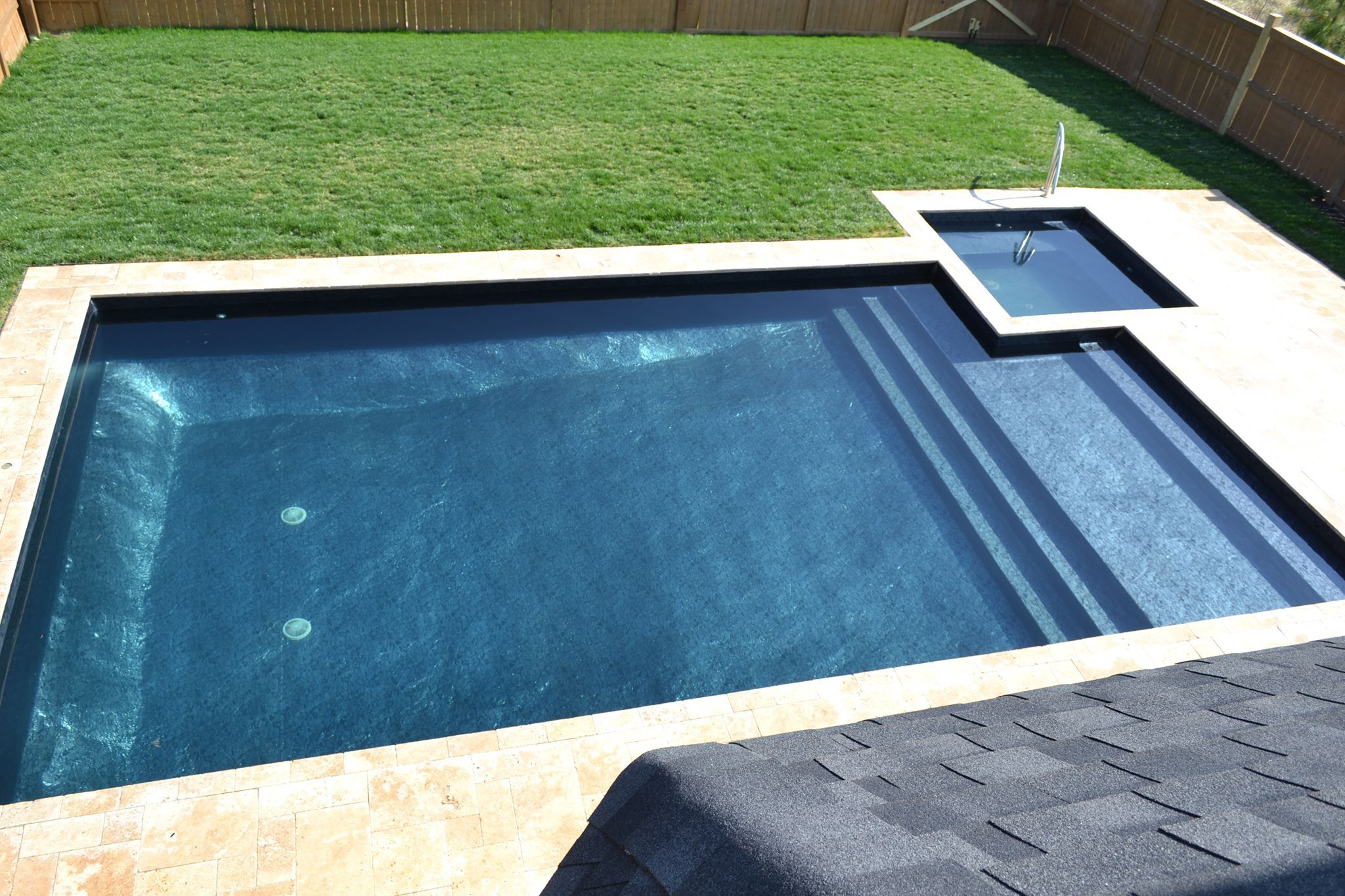 Platinum Onyx pool liner. Black with silver print! Looks like ...