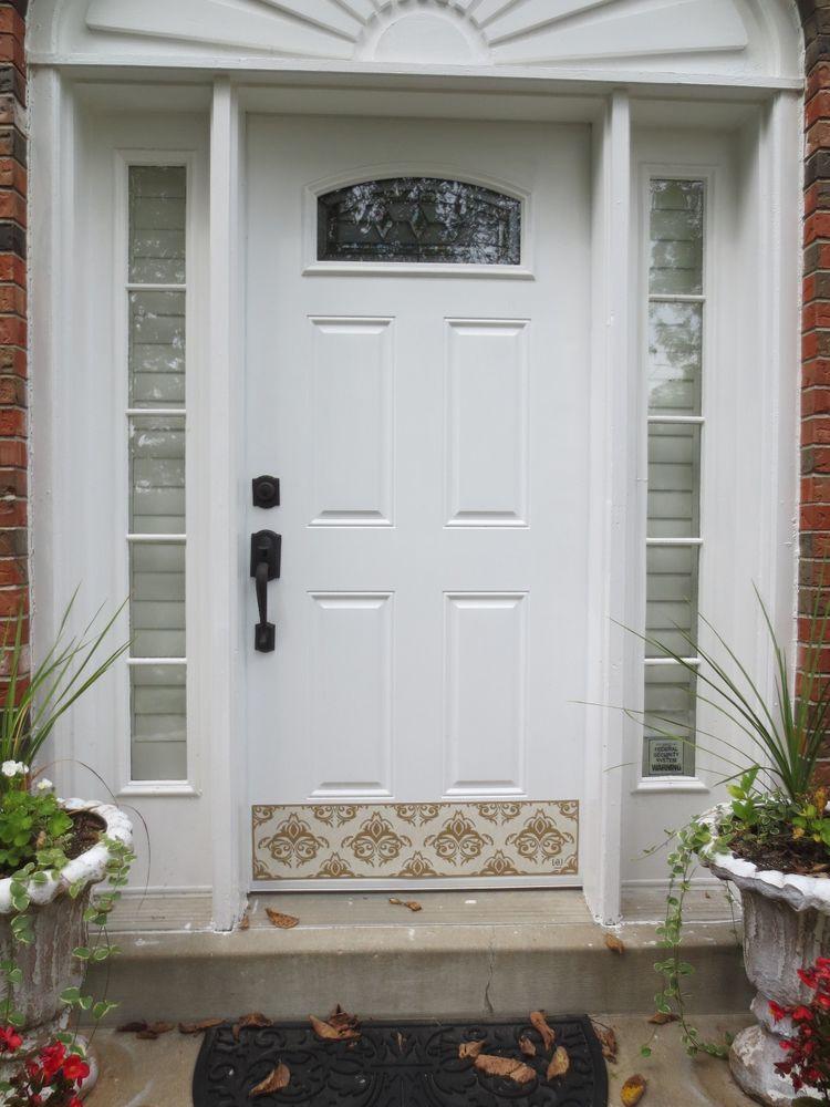 Door Kick Plate Kickplate Decorative Front Door Hardware Damask