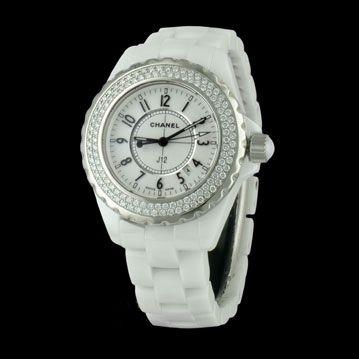 CHANEL - J12 Diamants, cresus montres de luxe d'occasion, http://www.cresus.fr/montres/montre-occasion-chanel-j12_diamants,r2,p21407.html