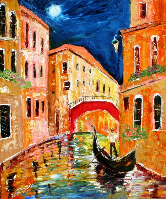 original oil painting venice italy painting by by