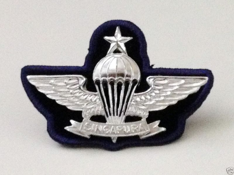 Parachute wings-Singapore(Combat Diver) | AIRBORNE | Paratrooper