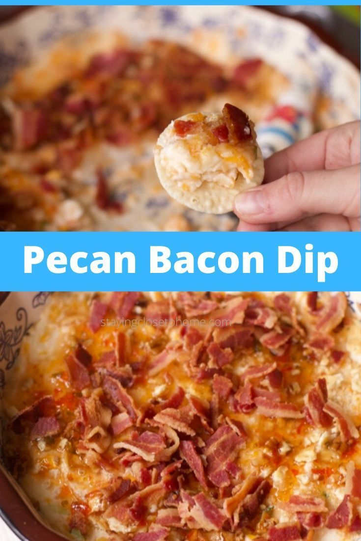 Out of this world Pepper, cheese bacon dip appetizer Out of this World Warm Pecan, Cheese and Bacon