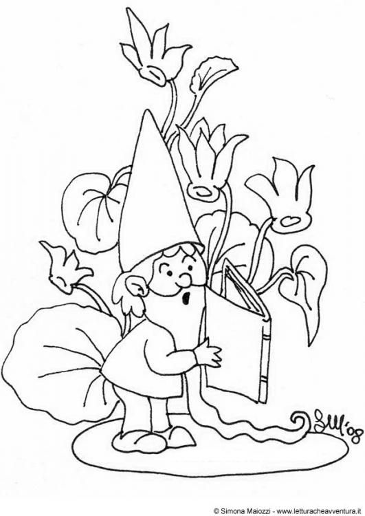 Reading Gnome Coloring Pages Art Pages Applique Templates