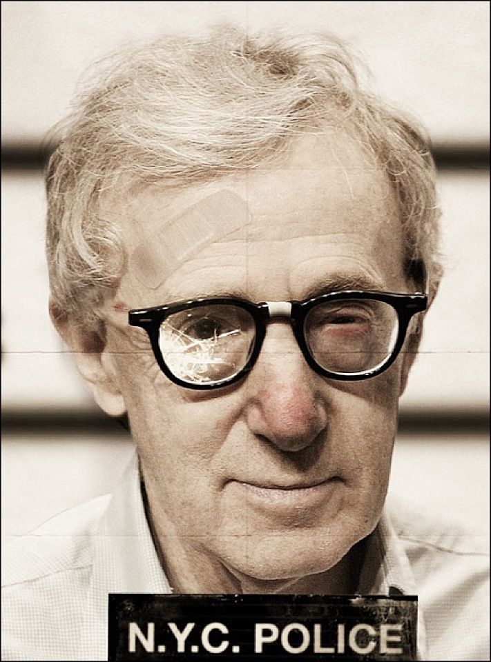 Mugshot of Woody Allen  Why does he look so pleased with himself