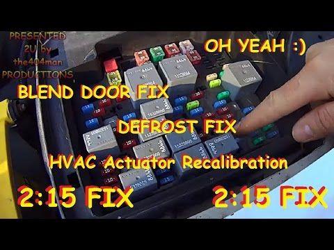 Blend Door Fix Chevy Truck Suv Hvac Actuator Recalibration 2003 2014 Youtube Chevy Trucks Trucks Suv