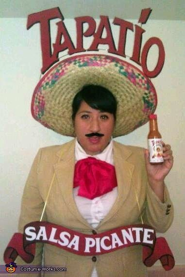 Homemade Mexican Costume Ideas | Tapatio Hot Sauce Costume  sc 1 st  Pinterest & Homemade Mexican Costume Ideas | Tapatio Hot Sauce Costume | All ...