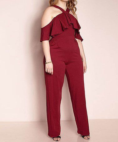 f930d63a9b4f Look what I found on  zulily! Burgundy The Things You Do Jumpsuit - Plus