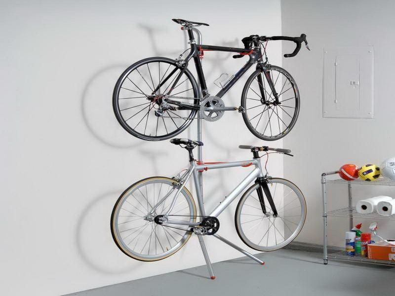 wall mount bike rack with shelf iron studio apartment ideas pinterest bike storage rack. Black Bedroom Furniture Sets. Home Design Ideas
