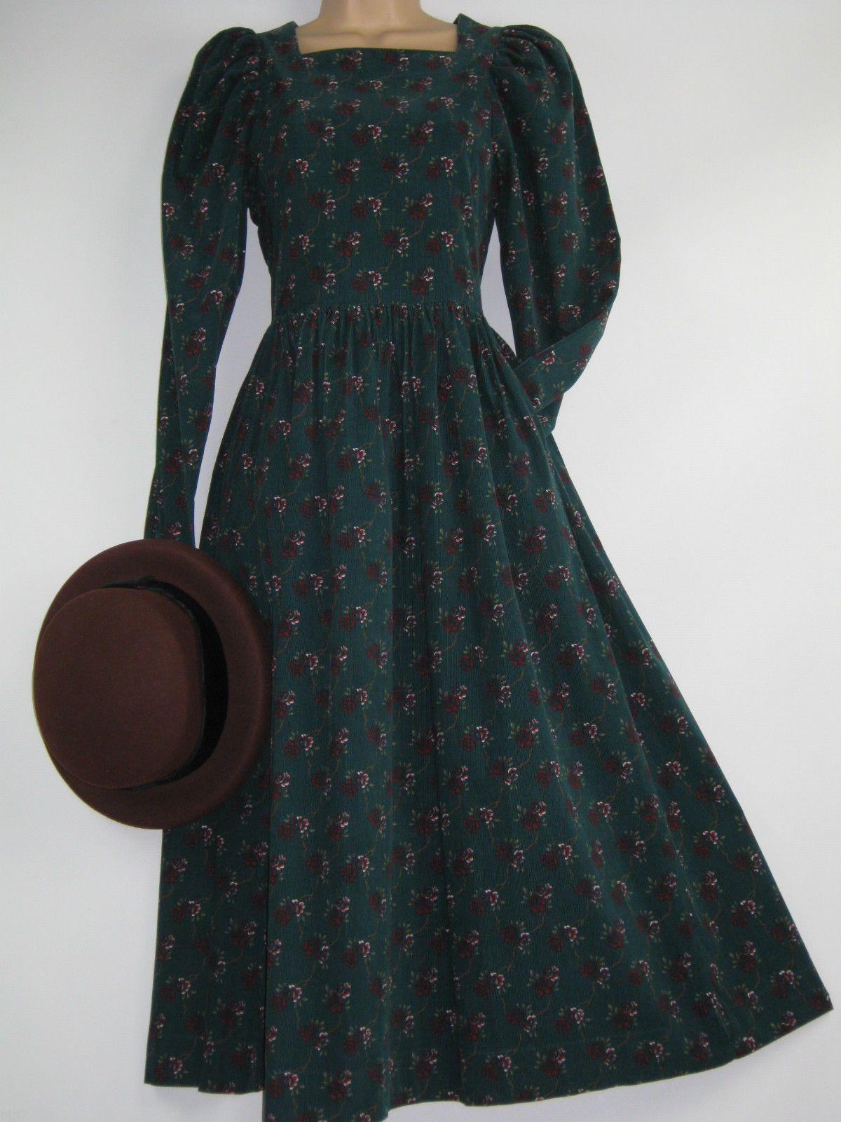 ebay laura ashley corduroy dress kleider. Black Bedroom Furniture Sets. Home Design Ideas